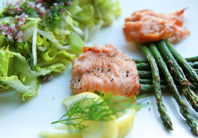 Asparagus and Smoked Salmon Bundle