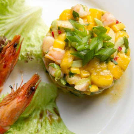 Prawn, Mango, Avocado and Chilli Salad