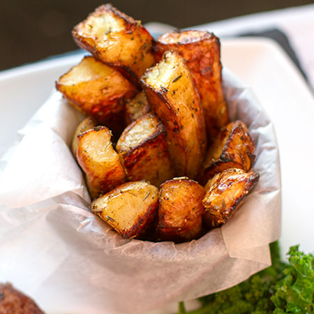 Chunky Chips with Herbs and Balsamic Vinegar