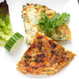 Straight out of the grill - Sweet Potato, Spring Onion and Chilli Tortilla